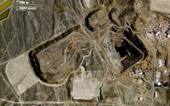 Le site de Mountain Pass - USA (source : Google Maps)