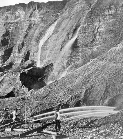 Figure 1. Placer de minerai aurifère (Wikipedia)